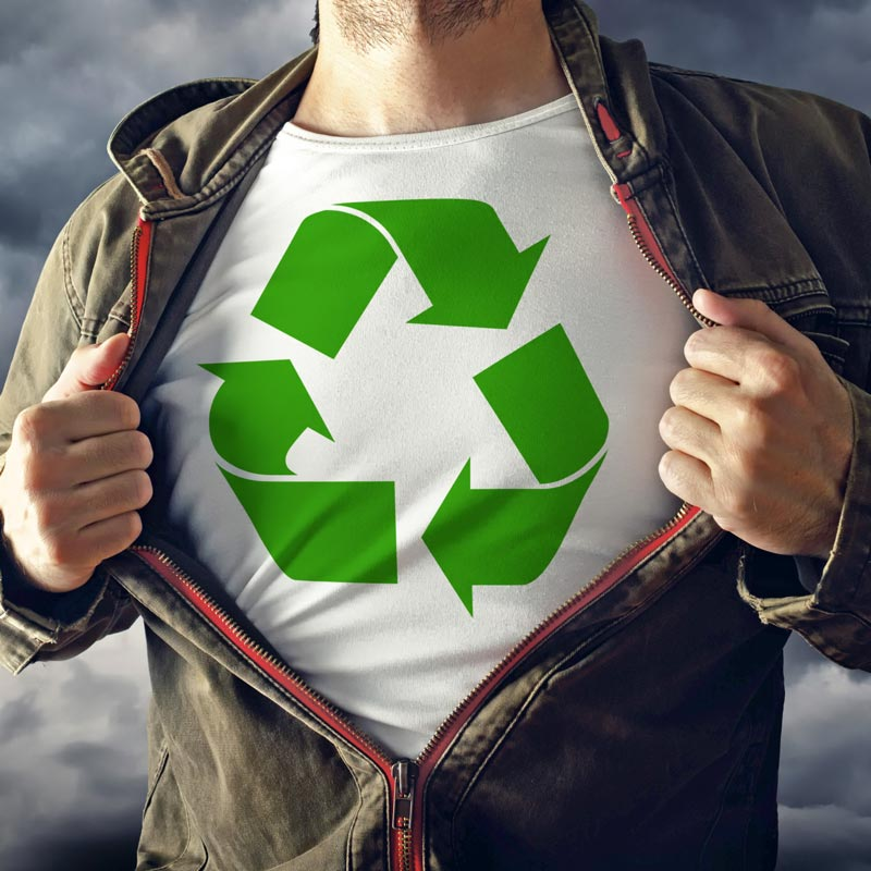 Recycling Superhero T-shirt